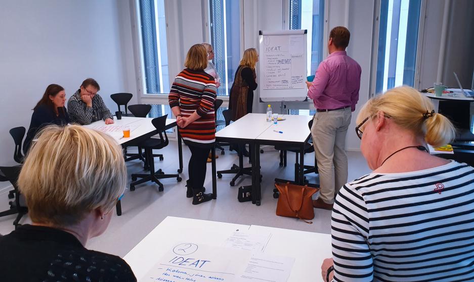 Ideoita kerätään ryhmissä