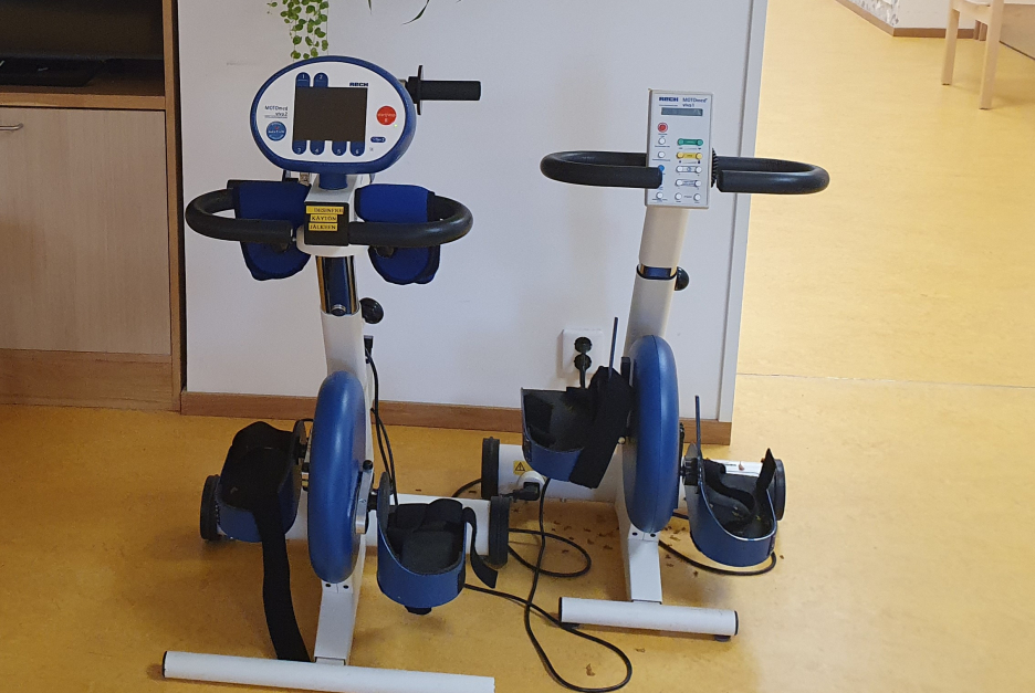 Two fitness bikes