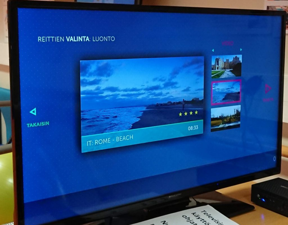 Virtual routes on a screen